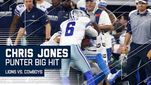 cowboys punter chris jones levels return lions vs cowboys