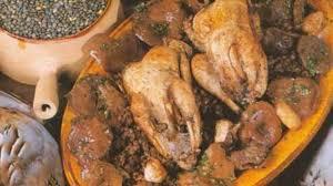 cuisiner des perdreaux les perdreaux aux lentilles et aux chignons recette par