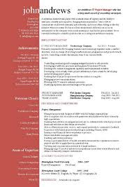 project manager resume templates project manager resume template by project manager