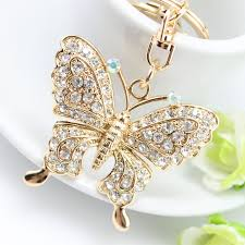 crystal key rings images Rhinestone butterfly purse charm key chain property room jpg