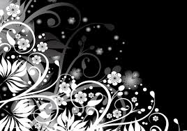 abstract black white floral design canvas buy abstract black