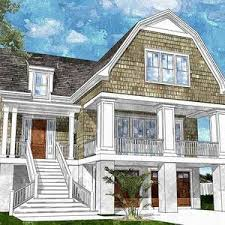 gambrel homes gambrel roofed shingle style house plan nc architectural roof new