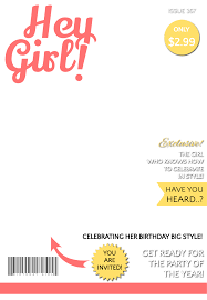 hey magazine cover free printable birthday invitation
