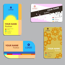 business card layout sets design with various styles free vector