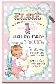 birthday announcements reviews retro vintage baby 1st birthday invitations di 230
