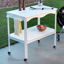 White Outdoor Furniture Shop Outdoor Serving Carts At Lowes Com
