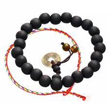 black bead charm bracelet images Wood beads elastic bracelet cat eye jewels tibetan buddhist black jpg