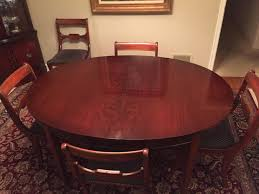 vintage drexel heritage mahogany dining room table and chairs