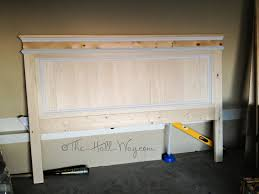 King Size Wood Headboard Good Diy King Size Headboard On Coral And Navy Are Two Of My