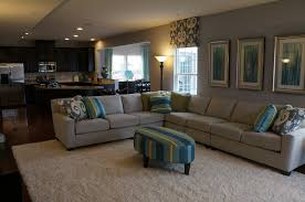 Decorating Model Homes Sectional In An Open Concept Ryan Homes Design Interior Design