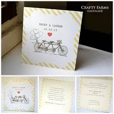 Simple Invitation Card Wedding Card Malaysia Crafty Farms Handmade Vintage Tandem