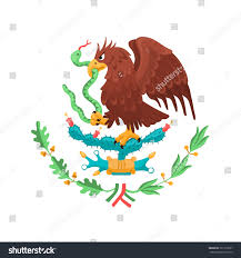 mexican eagle isolated on white background stock vector 721912057