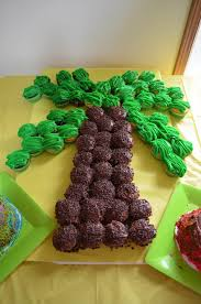 My Cupcake Palm Tree Party Ideas Pinterest Cake Pull Apart