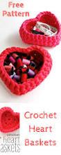 crochet heart shaped storage baskets pattern free crochet