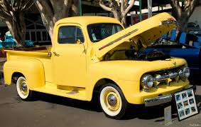 Antique Ford Truck Club - 1951 ford f 1 pickup yellow fvr ford products antique