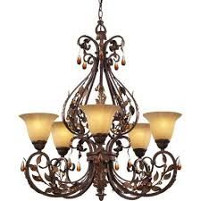 Hampton Bay 9 Light Chandelier Hampton Bay Cristobal Collection Royal Mahogany 5 Light Chandelier
