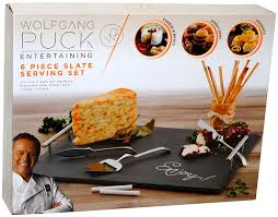 Wolfgang Puck Kitchen Knives Amazon Com Wolfgang Puck 6 Piece Slate Serving Set Cheese Plates