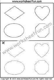 zig zag line tracing and cutting u2013 7 worksheets classroom