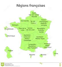France Map Outline by New French Regions Stock Vector Image 41266430