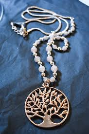 rose coloured necklace images Rose gold coloured tree of life necklace discover lupton gif
