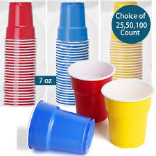 party cups 7oz plastic disposable party cups pong blue yellow
