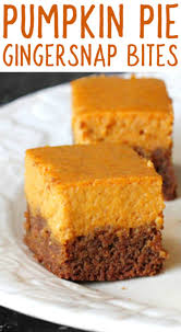 Gingersnap Pumpkin Cheesecake by Gingersnap Pumpkin Pie Bites Mama Loves Food
