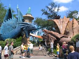 Harry Potter Adventure Map Islands Of Adventure Dueling Dragons Rollercoaster