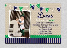 First Birthday Invitation Cards For Boys Preppy Bunting Boys Birthday Invitation Navy Green Birthday