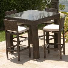 Tall Outdoor Chairs Alluring High Top Patio Table And Chairs And Tall Patio Dining Set
