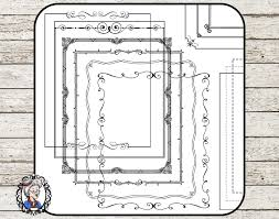 clipart da scaricare clipart frames and page borders 1 8 x 10 inches instant