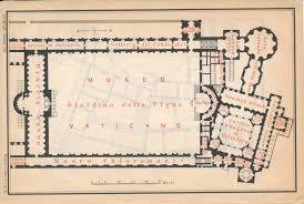 1892 vatican museum the vatican italy antique map