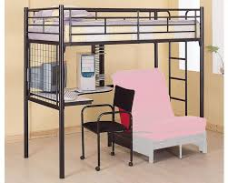 loft with futon underneath tags metal loft bed with desk and