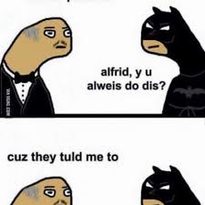 Pls Memes - the batman and master wayne talk jokes and parents in gooby pls
