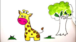 how to draw giraffe coloring pages for kids art colors for
