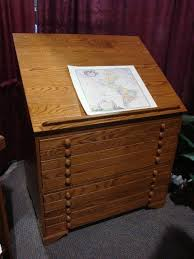 Drafting Table Storage Amish Slant Top Secretary Desk With Hutch Top Flat File Cabinet