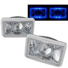 1986 chevy c10 tail lights chevy c10 pickup 1981 1987 blue halo sealed beam projector headlight