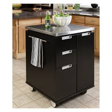 black kitchen island with stainless steel top kitchen kitchen cart metal kitchen cart kitchen prep table wood