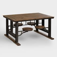 innovative decoration industrial style dining table bright design