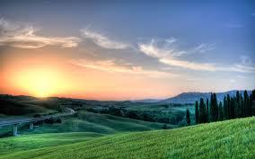tuscany sunset wallpaper wallpaper