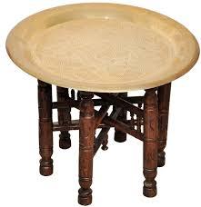 egyptian moroccan brass oriental islamic style coffee tea table