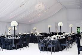 black and white centerpieces black and white modern wedding with unique details in cincinnati