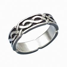silver band chain band sterling silver ring stardrop on artfire