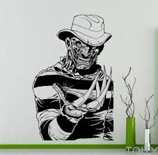 horror home decor aliexpress com buy freddy krueger wall decal nightmare on elm