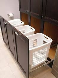 Bathroom Cabinet With Built In Laundry Hamper Sort Your Laundry In Style With These Attractive Laundry Hampers