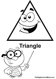 triangle coloring pages getcoloringpages com