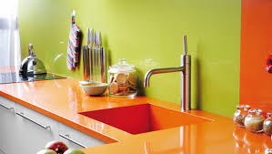 exciting kitchen paint colors ideas with orange colour range