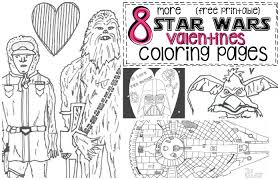 8 star wars inspired valentines coloring pages nerdy mamma