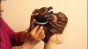 simple bridal hairstyle simple juda styles for long hair indian bridal hairstyles for