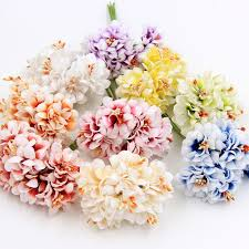Artificial Flower Bouquets Silk Gradient Stamen Handmade Artificial Flower Bouquet Wed Direct