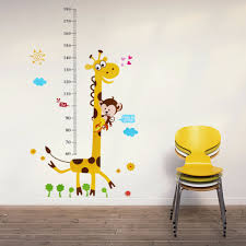 aliexpress com buy kids height chart wall sticker home decor aliexpress com buy kids height chart wall sticker home decor cartoon giraffe height ruler home decoration room wall art sticker wallpaper poster from